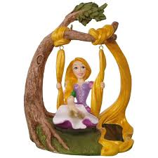 disney tangled rapunzel swing solar motion ornament