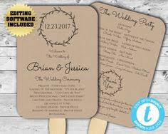 kraft paper wedding programs printable wedding program template kraft paper wedding program