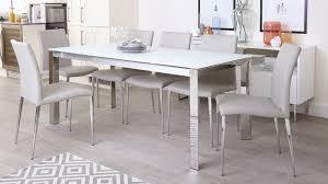 White Glass Extending Dining Table White Frosted Glass Extending Dining Table Chrome Legs