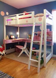 Wood Bunk Bed With Futon Home Design L Shaped Unpolished Hickory Wood Bunk Bed With Futon