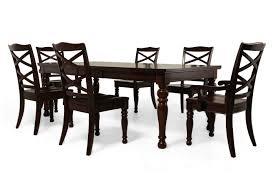 Seven Piece Dining Room Set Ashley Porter Seven Piece Dining Set Mathis Brothers Furniture