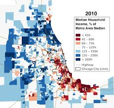 Blue Line Chicago Map by Chicago U0027s Growing Income Donut U2013 City Notes