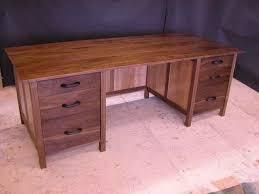 Computer Desk Hard Wood Walnut U0026 Sycamore Custom Computer Desk By Dumond U0027s Furniture