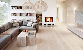 light wood floors with wood furniture