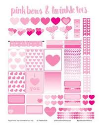 printable stickers valentines 77 best valentines planner stickers images on pinterest free