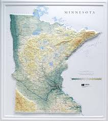 minnesota topographic map raised relief maps 3d topographic map us state series