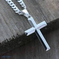 silver cross necklace pendants images Sterling silver cross necklace elegant unisex sterling silver jpg