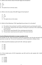practice exam questions on options pdf