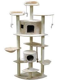 Cat Furniture Amazon Com Go Pet Club Cat Tree 80 Inch Beige Cat Climbing