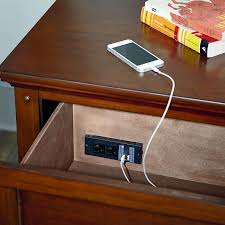nightstand l with usb port casual 2 drawer nightstand with usb port by standard furniture