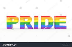 Pride Flag Colors 3d Generated Pride Text Pride Flag Stock Illustration 230436469