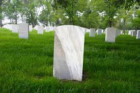 grave tombstone war memorial cemetery with blank tombstone grave marker stock