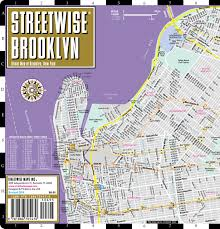 Brooklyn Michigan Map by Streetwise Brooklyn Map Laminated City Center Street Map Of