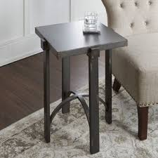 round distressed end table round distressed accent table wayfair