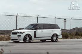 white land rover ag luxury wheels range rover forged wheels