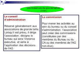 association bureau conseil d administration gouvernance et projet associatif ppt télécharger