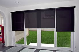 Roller Shades For Windows Designs Roller Shades On A Sliding Glass Door Indoor Home Decor