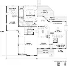 craftsman style house plan 4 beds 4 5 baths 2493 sq ft plan 56
