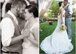 backyard wedding dresses witness york backyard wedding with lace wedding dresses