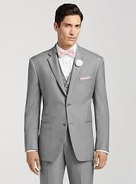 suits for a wedding pronto uomo gray notch lapel suit groomsman wear