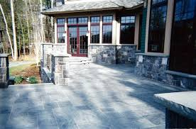 Stone Decks And Patios by Natural Stone Pool Decks Patios And Waterfalls Are A Perfect