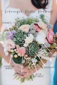 wedding flowers names colourful rustic bridal bouquet recipe event design styling