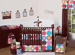Pink Brown Crib Bedding Modern Large Circle Dot Pink Brown Crib Bedding Set 9pc Baby