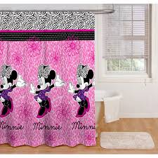 Mickey Mouse Bathroom Accessory Set Minnie Mouse Glamour Shower Curtain Kids Rooms Walmart Minnie