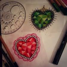 diamond tattoo neo traditional heart shaped diamond drawing at getdrawings com free for personal