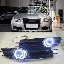 2pcs led daytime fog lights projector eye kit for audi a6
