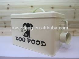 Decorative Dog Food Storage Container - metal pet food container galvanized dog food storage bin household