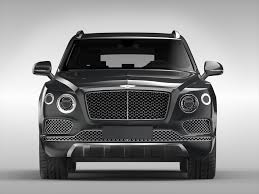 bentley jeep black 3d bentley bentayga 2017 cgtrader