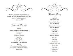 wedding program ideas templates awesome microsoft wedding program template gallery styles