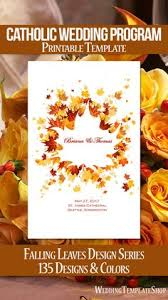 order wedding programs online catholic church wedding program fall in gold order of service