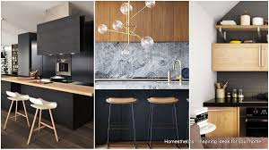 kitchen design wood outstanding black and wood kitchens that will add style to your