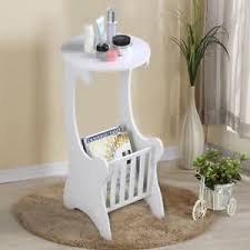 shabby chic side table small telephone table vintage round shabby chic side wooden white