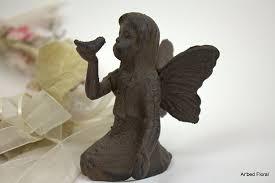 fairy garden statues amazon com small cast iron playful fairy garden statue angel