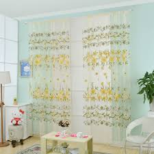 Window Treatments Living Room Sheer Yellow Curtains Promotion Shop For Promotional Sheer Yellow