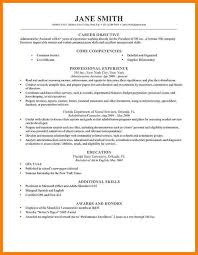 Resume Of Mine 7 Cv Objective Precis Format