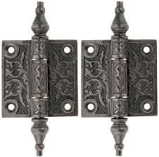 pair of decorative cast iron cabinet hinges 2 x 2 house of