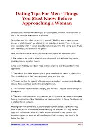 dating tips for men things you must know before approaching a woman