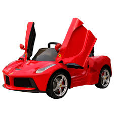 lifted ferrari kid u0027s ferrari 12v licensed red ride on car buydirect4u