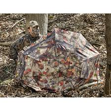 Ground Blind Reviews Guide Gear Camo Umbrella Blind 222210 Ground Blinds At