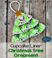 cupcake liner tree ornament for