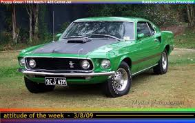 Black Mustang With Green Stripes 1969 Mustang Mach 1