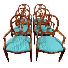 henredon natchez shield back dining chairs set 6 chairish