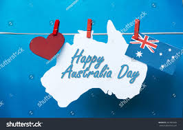 Red And White Flag With A Cross Celebrate Australia Day Holiday On January Stock Photo 361067966
