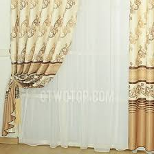 Gold Thermal Curtains Stripe And Cool Pattern In Coffee Color Dark Gold Polyester