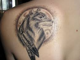 wolf paw tattoos on shoulder to hip photos pictures and