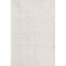 taupe and white diamond woven rug